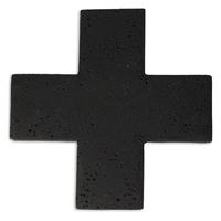Cross Concrete Trivet - Black