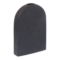 Raw Tall Vase - Black