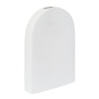 Raw Tall Vase - White