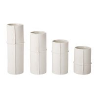 Bud Vase Set of 4 - Raw