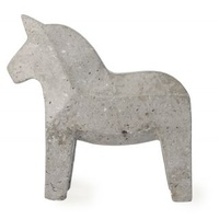 Concrete Dala Horse - Natural