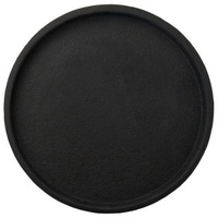 Concrete Round Tray - Black