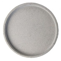Concrete Round Tray - Natural