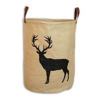 Deer Jute Storage Basket
