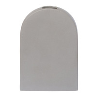 Raw Tall Vase - Grey