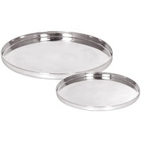 Round Tray Set of 2 - Silver