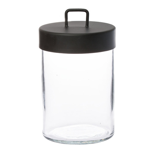Glass Jar - Large Black