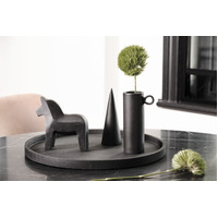 Concrete Round Tray - Large Black