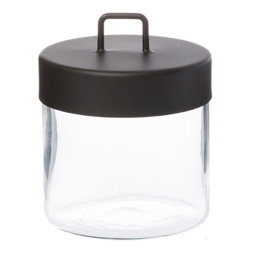 Glass Jar - Medium Black