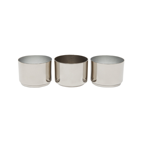 Tealight Candle Holder - Set of 3 Silver